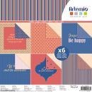 Papier scrapbooking Artemio - Bonheur - 30,5 x 30,5 cm - 6 feuilles