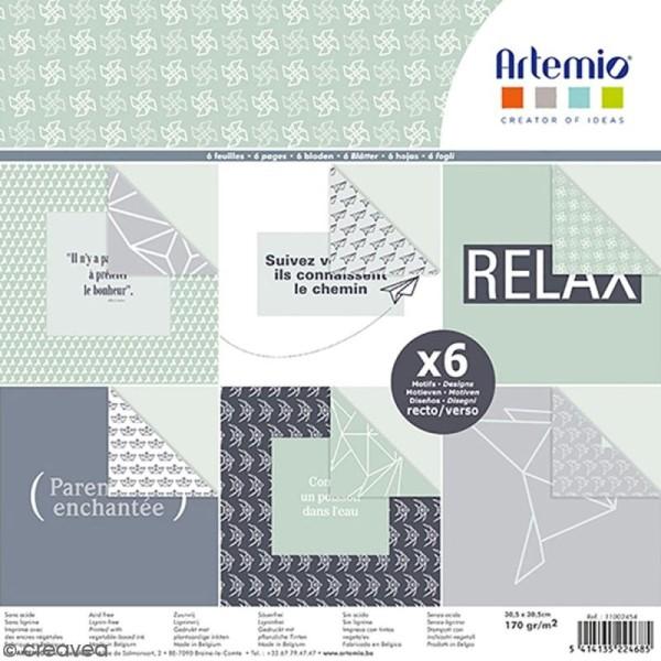 Papier scrapbooking Artemio - Origami - 30,5 x 30,5 cm - 6 feuilles - Photo n°1