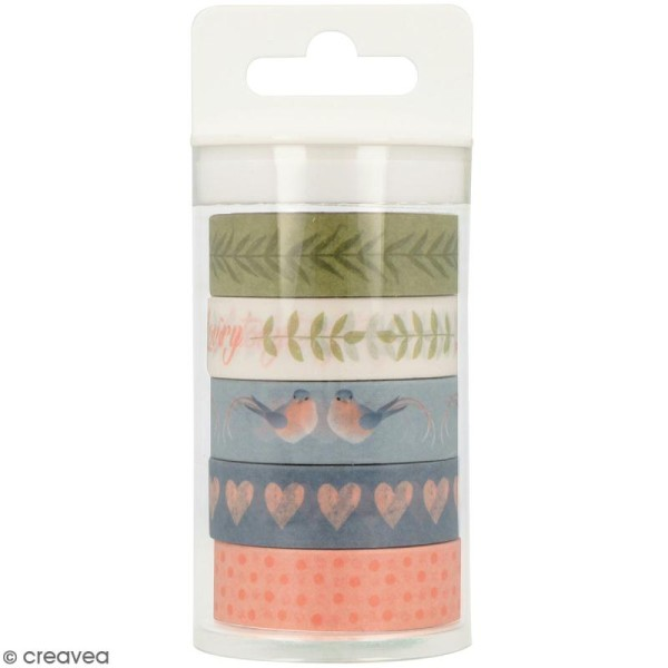 Masking Tape Artemio - Love story - 1,5 cm x 5 m - 5 pcs - Photo n°1