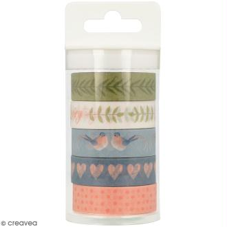 Masking Tape Artemio - Love story - 1,5 cm x 5 m - 5 pcs