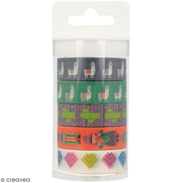 Masking Tape Artemio - Alpaga Lamas - 1,5 cm x 5 m - 5 pcs - Photo n°1