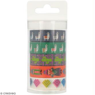 Masking Tape Artemio - Alpaga Lamas - 1,5 cm x 5 m - 5 pcs