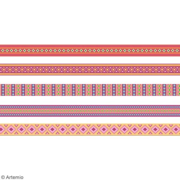 Masking Tape Artemio - Alpaga Aztèque - 1,5 cm x 5 m - 5 pcs - Photo n°3