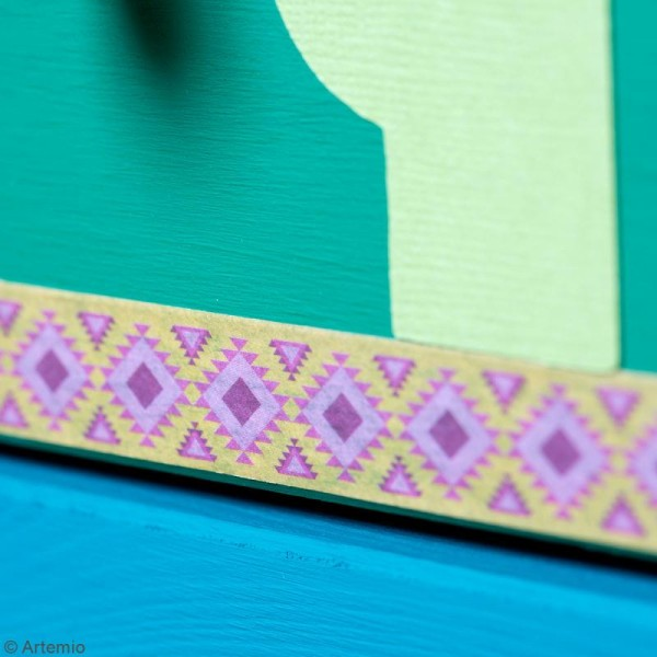 Masking Tape Artemio - Alpaga Aztèque - 1,5 cm x 5 m - 5 pcs - Photo n°6