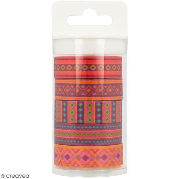 Masking Tape Artemio - Alpaga Aztèque - 1,5 cm x 5 m - 5 pcs - Photo n°1