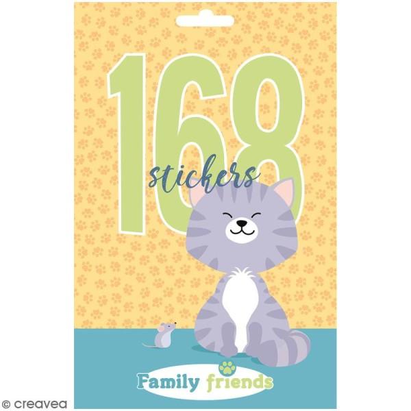 Carnet de stickers Family Friends - Chats - 168 pcs - Photo n°1