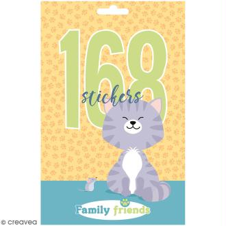 Carnet de stickers Family Friends - Chats - 168 pcs