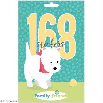 Carnet de stickers Family Friends - Chiens - 168 pcs