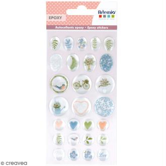 Stickers Epoxy - Love story - 27 pcs