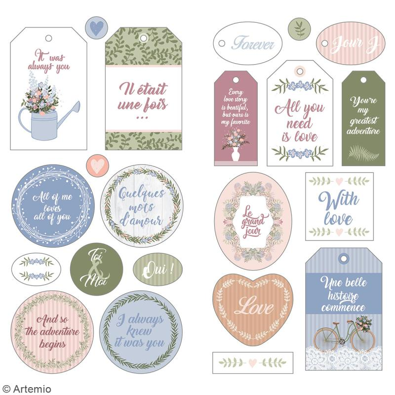 Stickers Puffies XL - Love story - 22 autocollants - Photo n°2