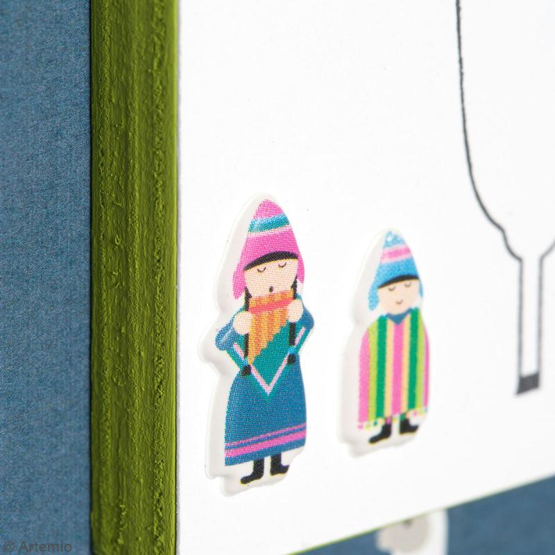 Stickers Artemio Puffies - Alpaga Family - 30 pcs - Photo n°5