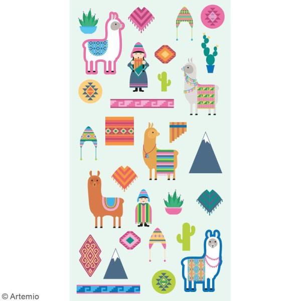 Stickers Artemio Puffies - Alpaga Family - 30 pcs - Photo n°2