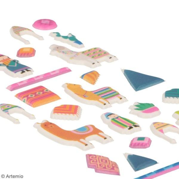 Stickers Artemio Puffies - Alpaga Family - 30 pcs - Photo n°3