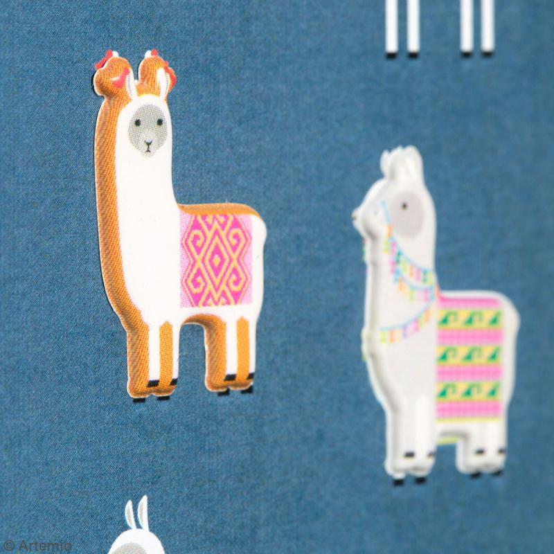 Stickers Artemio Puffies - Alpaga - 24 pcs - Photo n°4