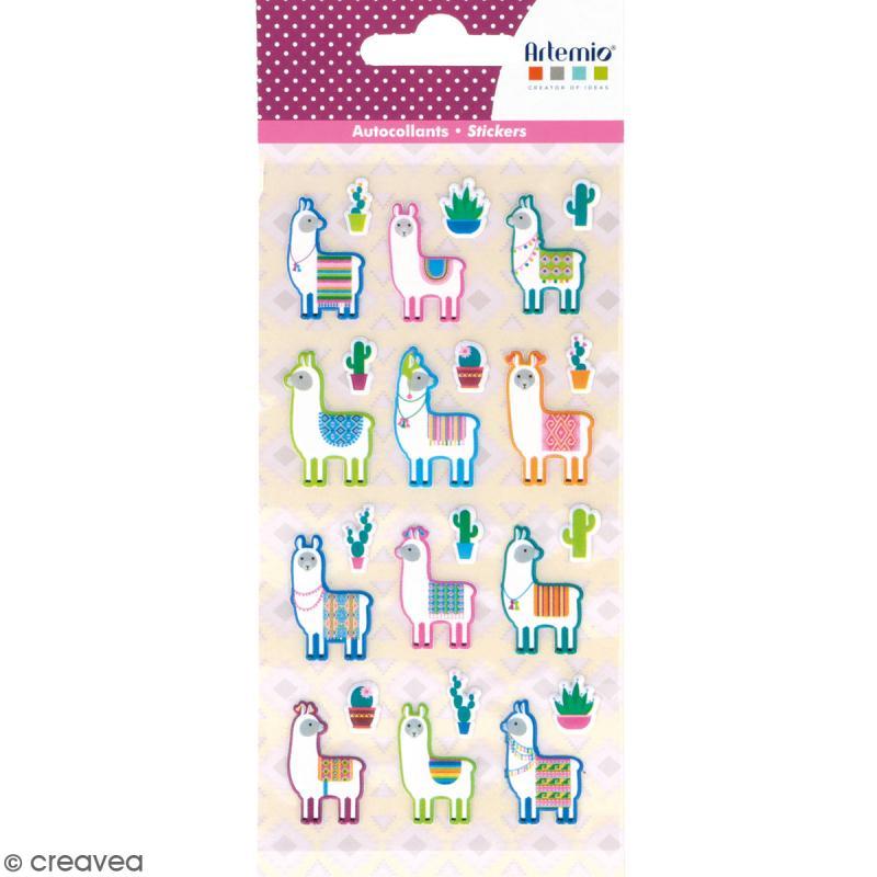 Stickers Artemio Puffies - Alpaga - 24 pcs - Photo n°1