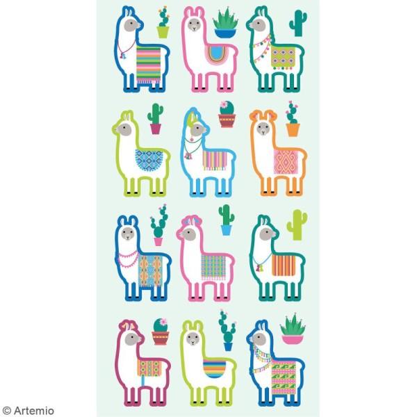 Stickers Artemio Puffies - Alpaga - 24 pcs - Photo n°2