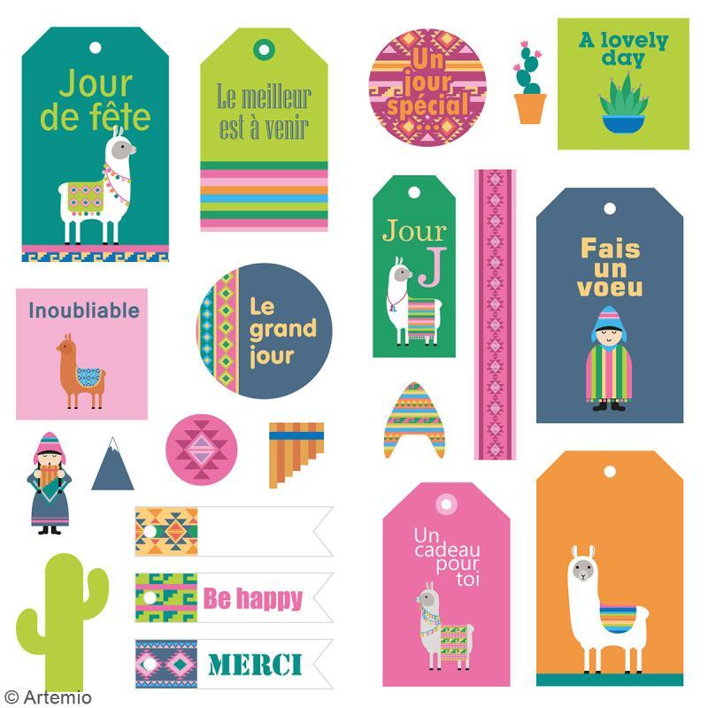 Stickers Puffies XL - Alpaga - 21 autocollants - Photo n°2