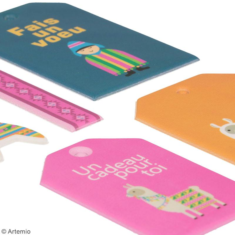 Stickers Puffies XL - Alpaga - 21 autocollants - Photo n°3