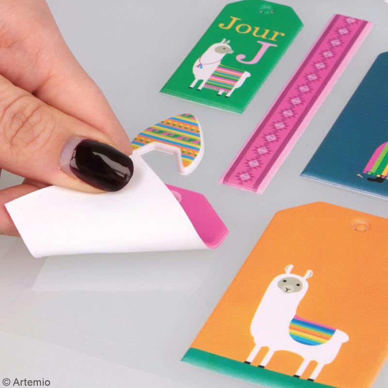 Stickers Puffies XL - Alpaga - 21 autocollants - Photo n°4