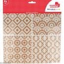 Stickers carreaux de ciment - 12,5 x 12,5 cm - Beige - 4 pcs