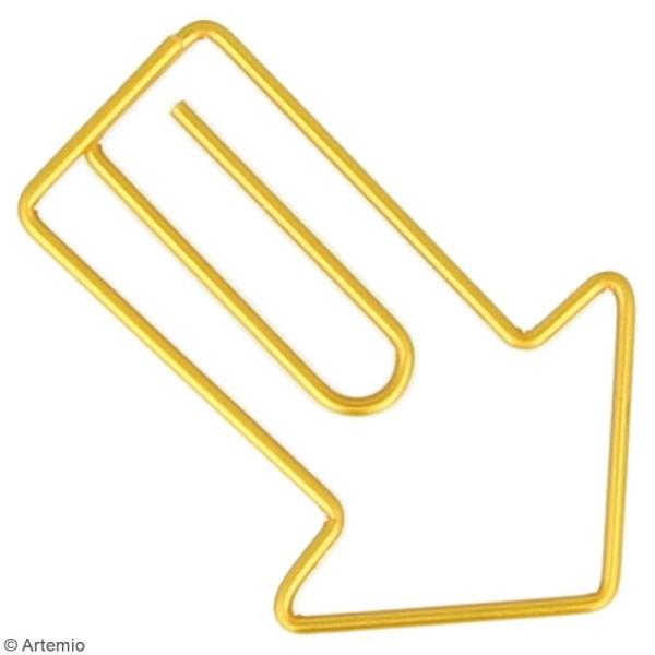 Trombones Flèches dorées - 3 x 4 cm - 6 pcs - Photo n°2