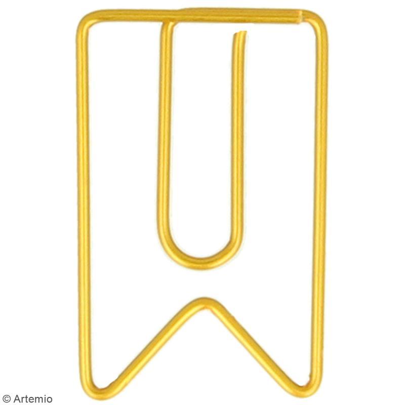 Trombones Fanions dorés - 2 x 3 cm - 6 pcs - Photo n°2
