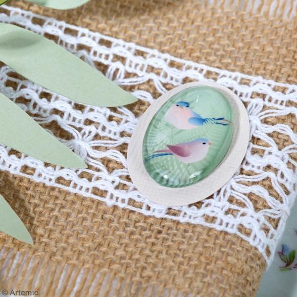 Cabochon Ovale Artemio - Love story - 2 x 3 cm - 6 pcs - Photo n°3