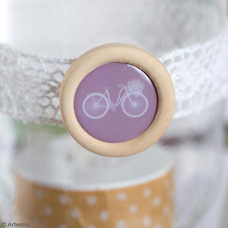 Boutons bois et epoxy à coller - Love story - 20 pcs - Photo n°5