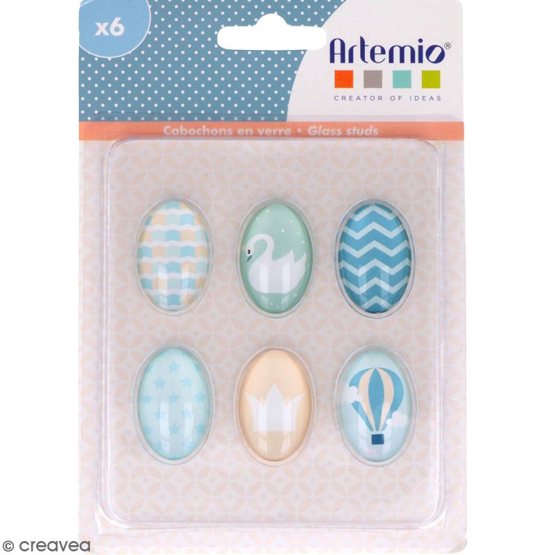 Cabochon Ovale Artemio - Sweet dreams - 2 x 3 cm - 6 pcs - Photo n°1