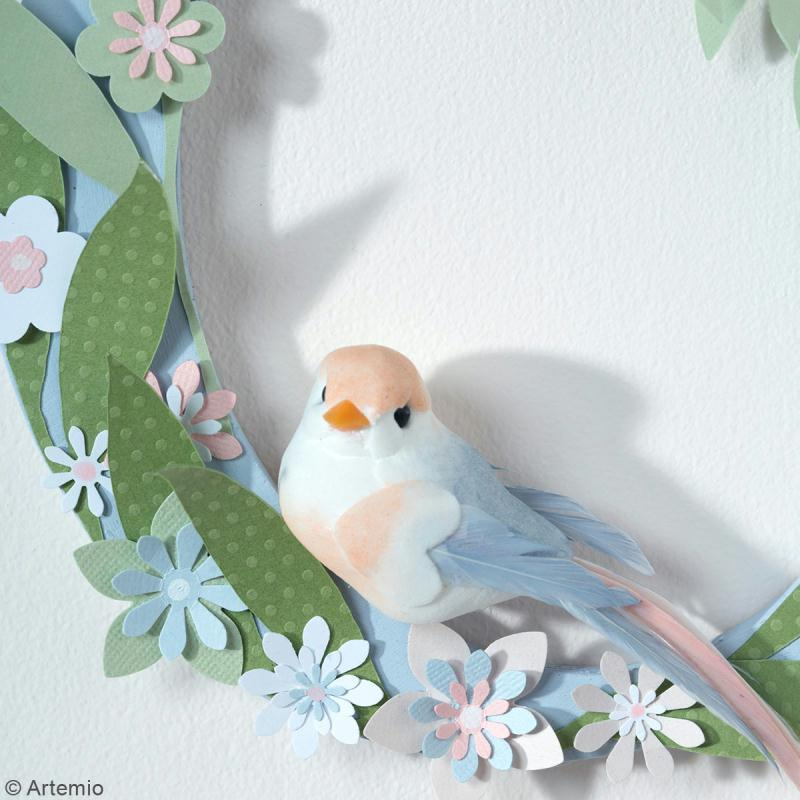 Oiseaux colorés sur pince - Plumes - Love story - 6 pcs - Photo n°6