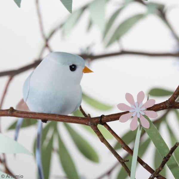 Oiseaux colorés sur pince - Plumes - Love story - 6 pcs - Photo n°5