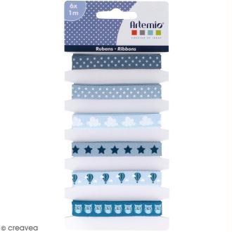 Rubans Artemio - Blue dreams - 1 cm x 1 m - 6 pcs