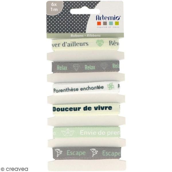 Rubans Artemio - Rêves d'ailleurs - 1 cm x 1 m - 6 pcs - Photo n°1