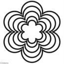 Set de dies imbriqués Artemio grand format - Fleurs - 12 cm - 5 pcs - Photo n°2