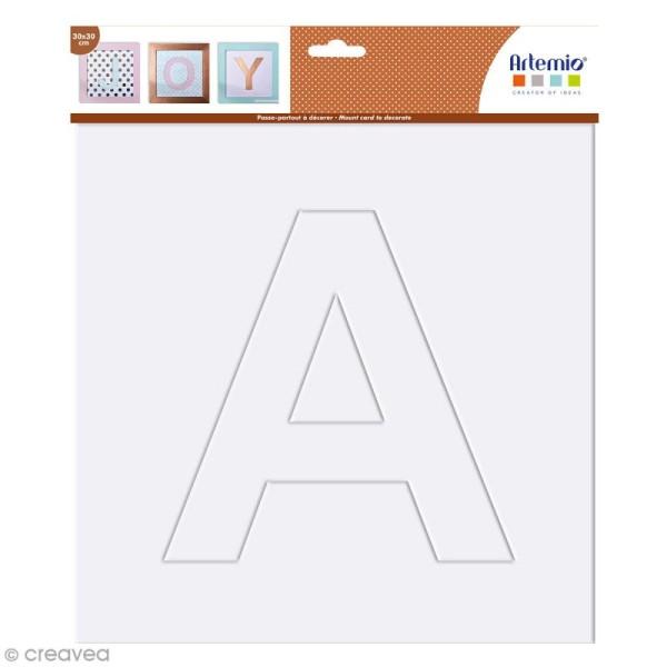 Alphabet en carton passe partout à décorer - 30 x 30 cm - Photo n°2