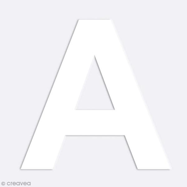 Alphabet en carton passe partout à décorer - 30 x 30 cm - Photo n°3