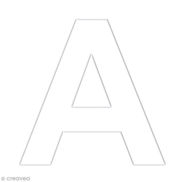 Alphabet en carton passe partout à décorer - 30 x 30 cm - Photo n°4