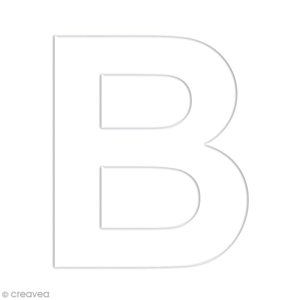 Alphabet en carton passe partout à décorer - 30 x 30 cm - Photo n°6