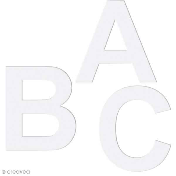 Alphabet en carton passe partout à décorer - 30 x 30 cm - Photo n°1