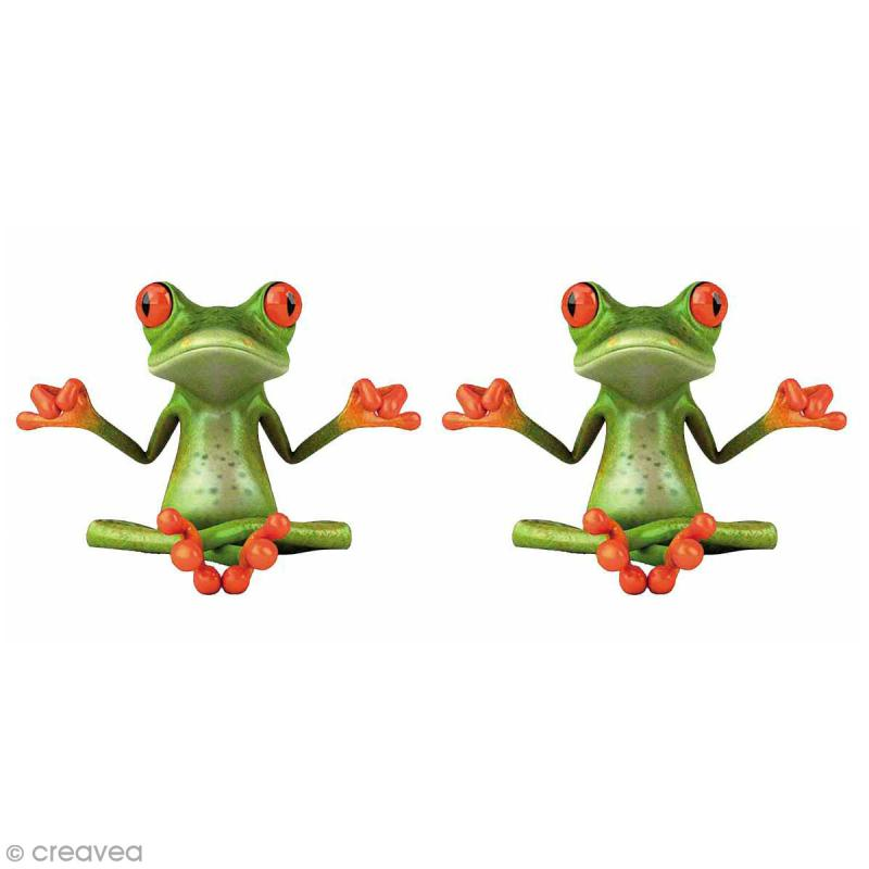 Sticker décoratif - Grenouille - 5 x 5 cm - 2 pcs - Photo n°1