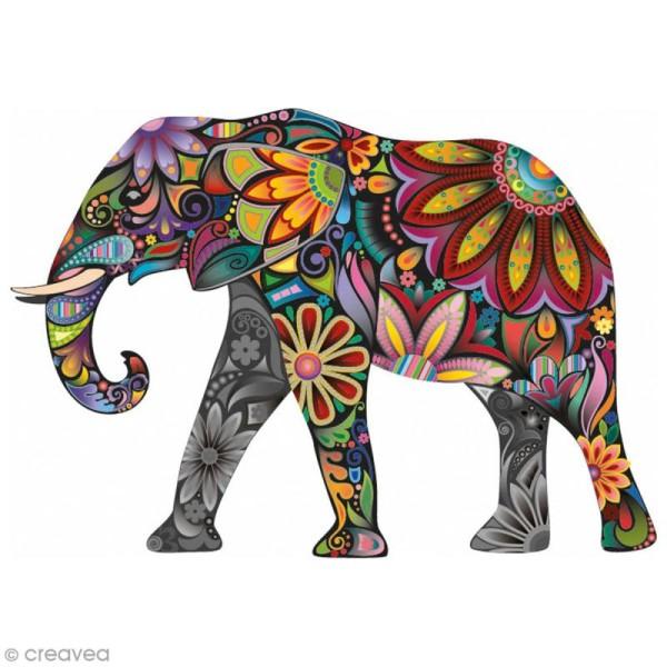 Sticker décoratif - Elephant - 5 x 10 cm - 1 pce - Photo n°1