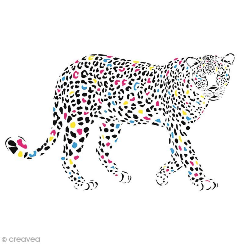 Sticker décoratif - Guépard - 5 x 10 cm - 1 pce - Photo n°1
