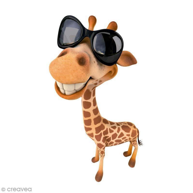Sticker décoratif - Girafe à lunettes - 10 x 20 cm - 1 pce - Photo n°1