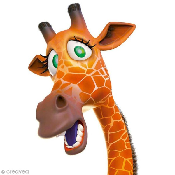 Sticker décoratif - Girafe - 10 x 20 cm - 1 pce - Photo n°1