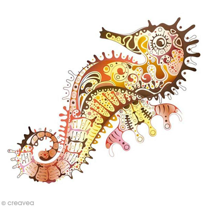 Sticker décoratif - Hippocampe - 10 x 10 cm - 2 pcs - Photo n°1