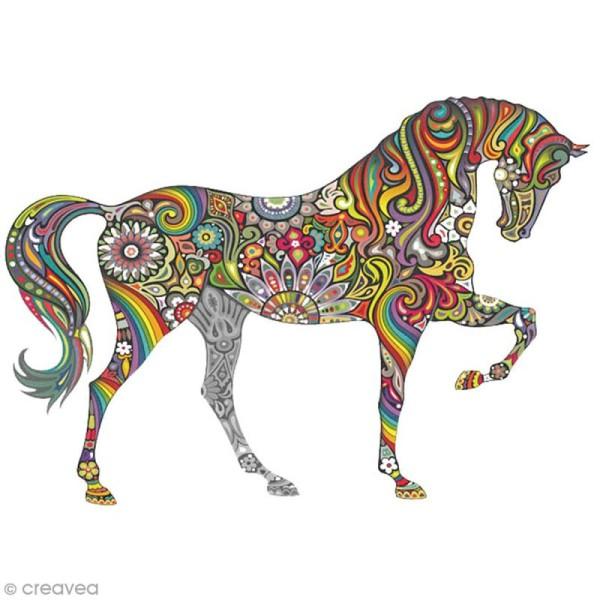 Sticker décoratif - Cheval - 10 x 20 cm - 1 pce - Photo n°1