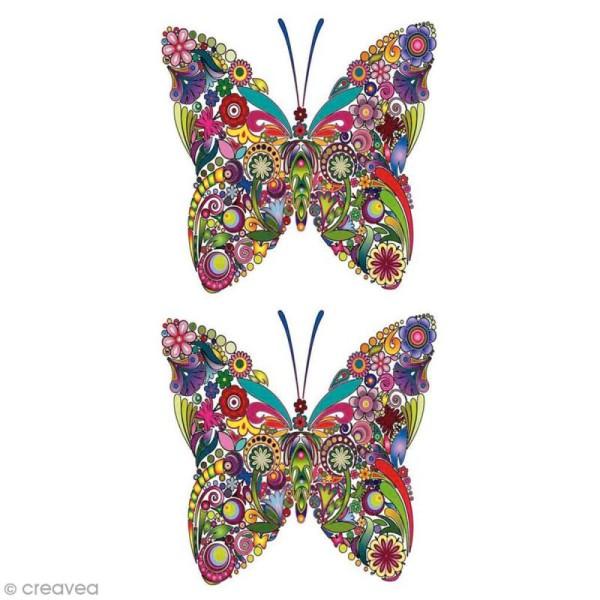Sticker décoratif - Papillons - 10 x 10 cm - 2 pcs - Photo n°1