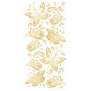 Sticker décoratif - Papillons dorés - 10 x 20 cm - 1 pce