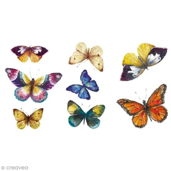 Sticker transfert thermocollant - Papillons - 5 x 10 cm - 8 pcs - Photo n°1