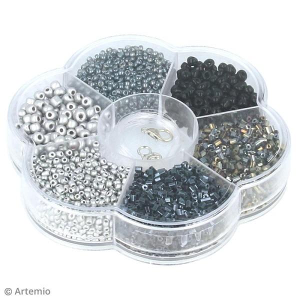 Assortiment de perles en plastique Artemio - Noir - 130 g - Photo n°2
